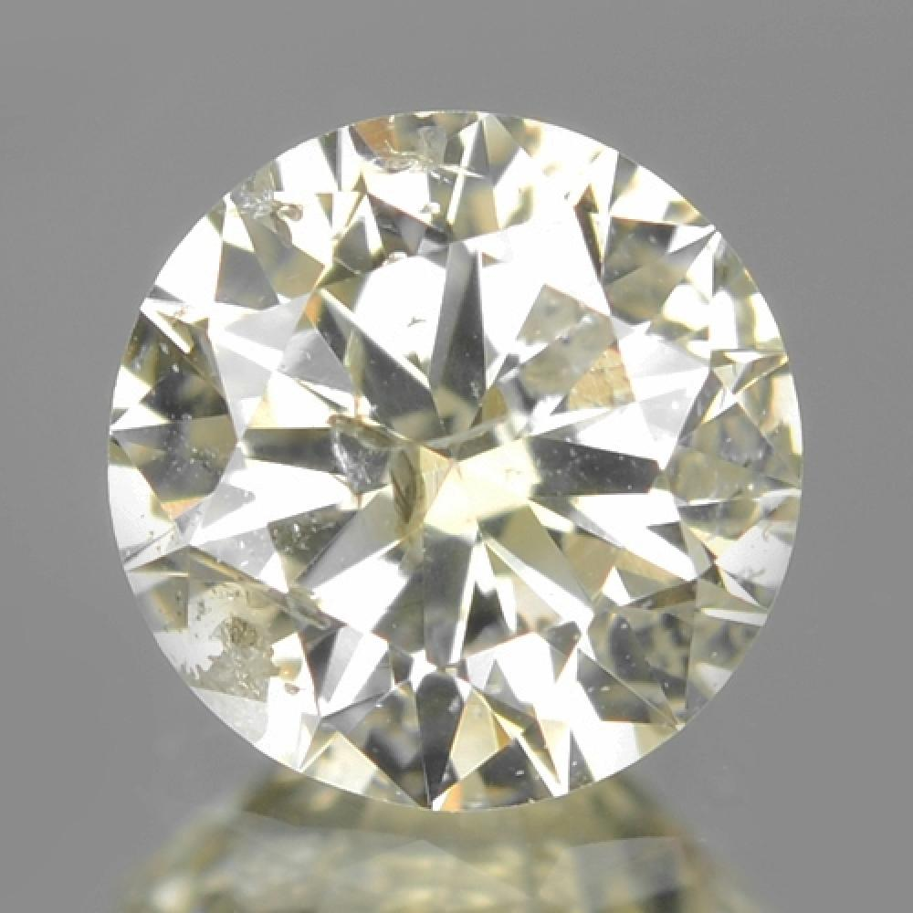 Untreated Natural Fancy yellow Colour Loose Diamond 0.40ct