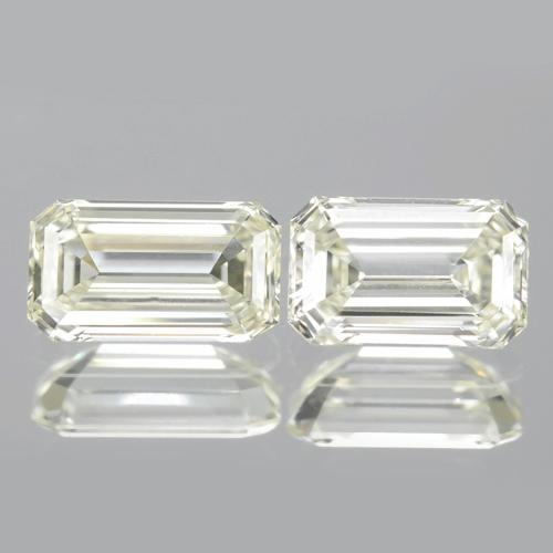 "Pair of Untreated Natural Diamond ""L"" Colour Loose Diamonds 0.37cts total"