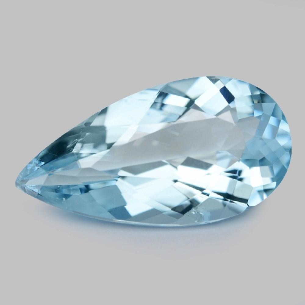 Sparkling Blue Colour Natural Aquamarine 5.89ct