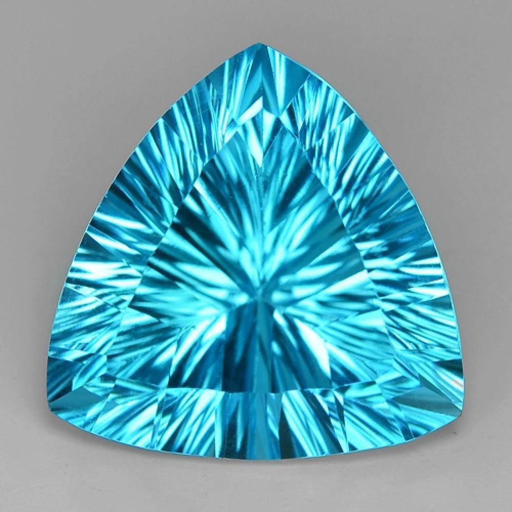 Millennium Cut Blue Colour Natural Topaz 24.44ct