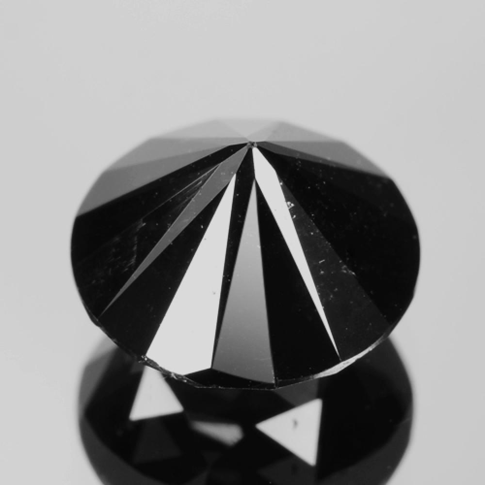 Excellent Shiny Black Colour Enhanced Natural Diamond 2.39ct