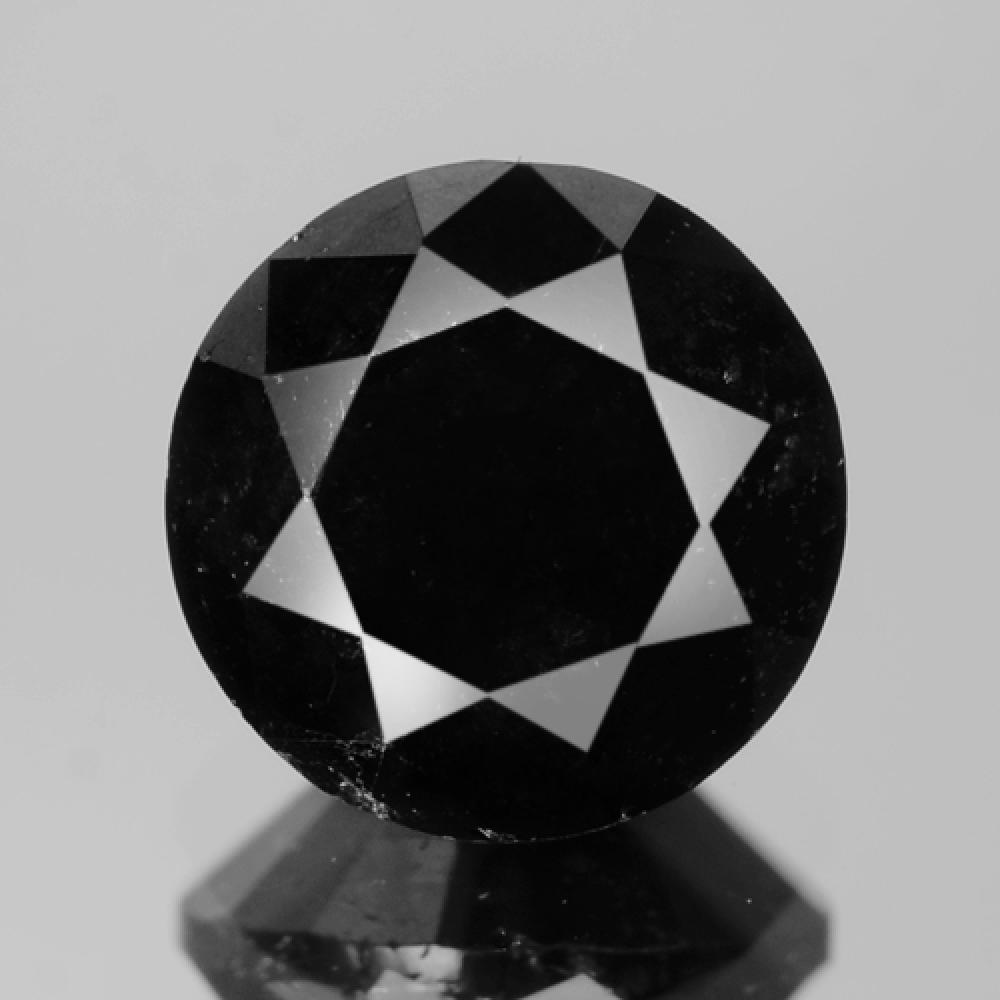 Fancy Deep Jet Black Colour Natural Treated Loose Diamond 1.46ct