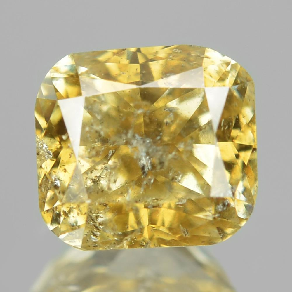 Untreated Natural Fancy Vivid Yellow Colour Loose Diamond