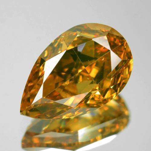 Untreated Natural Fancy Orange Colour Loose Diamond 0.80ct