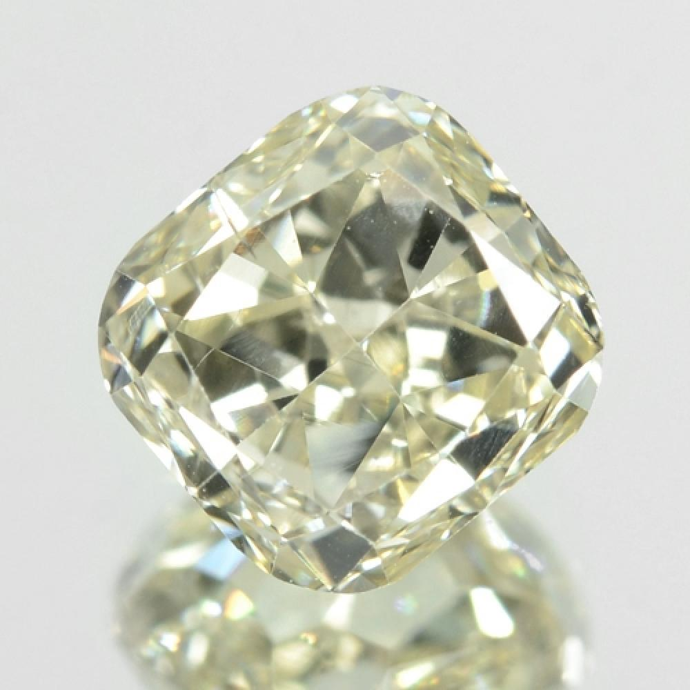 Untreated Natural Fancy Light Yellow Colour Loose Diamond 0.88ct