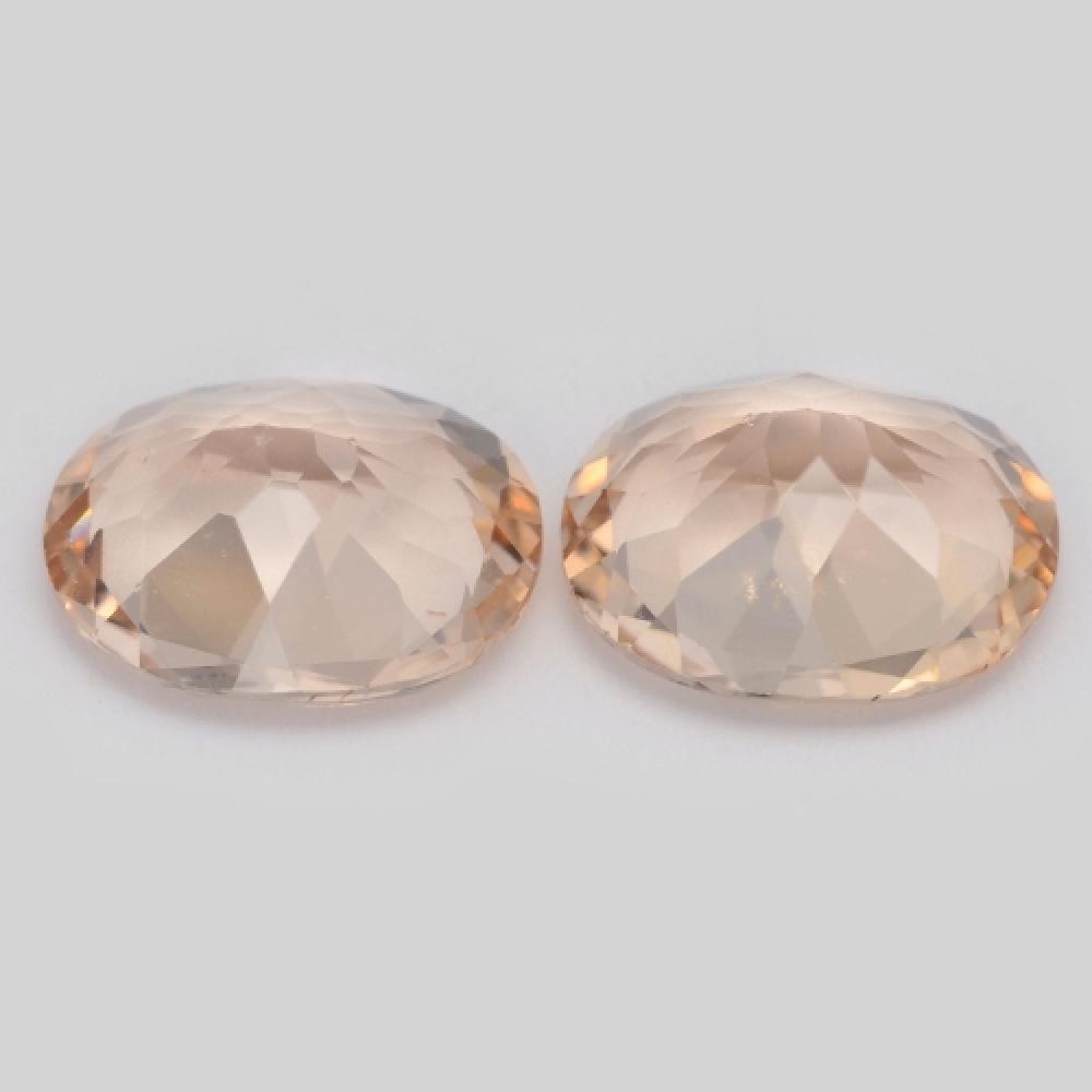 Pair Of Natural Pink Morganite 4.17ct