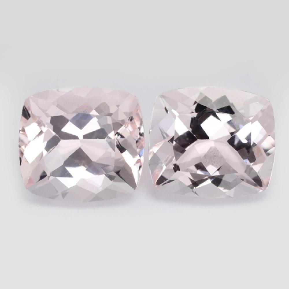 Excellent Sparkling Quality Natural Pink Morganite Loose gemstone-- Pair
