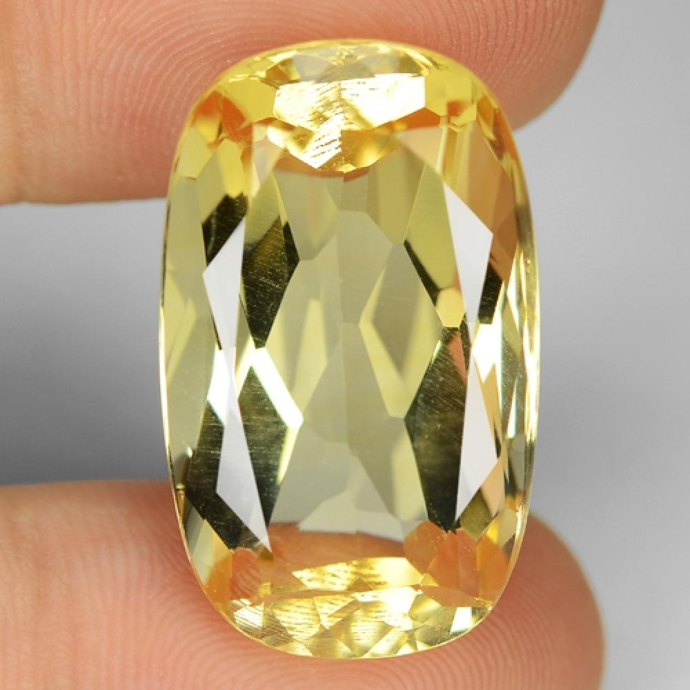 Yellow Colour Natural Citrine Gemstone 28.49ct