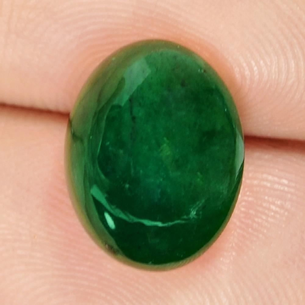 Vivid Green Colour Natural Zambian Emerald 4.87ct