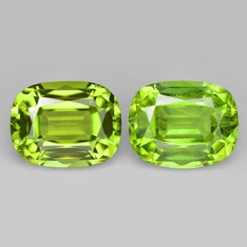Pair of European Cut Green Colour Natural Peridot 3.2ct