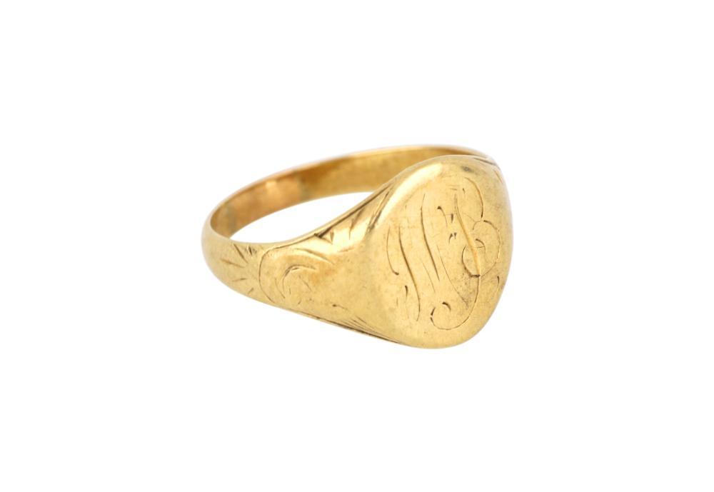 Vintage 10ct gold signet ring