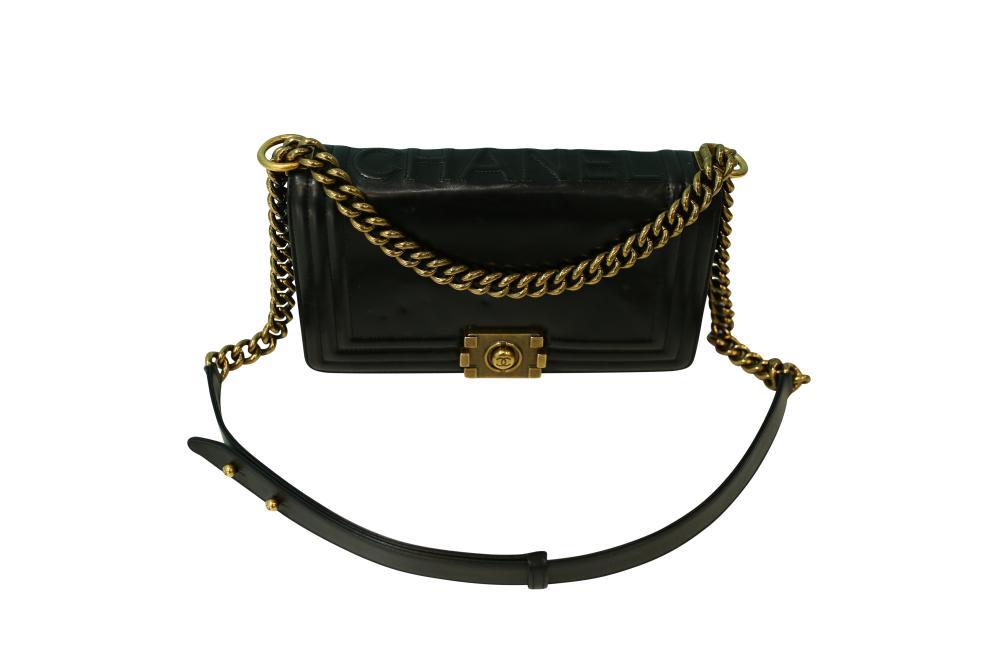 Chanel Black Boy leather handbag