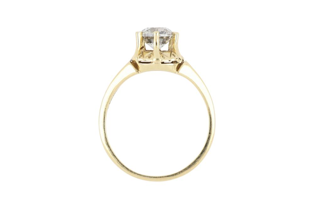 New 18ct gold diamond solitaire ring, 4.35 grams