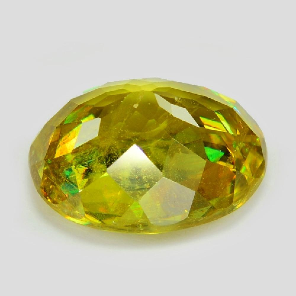 2.26 Carat Excellent Color Change Green To Brown Natural Sphene Gemstone