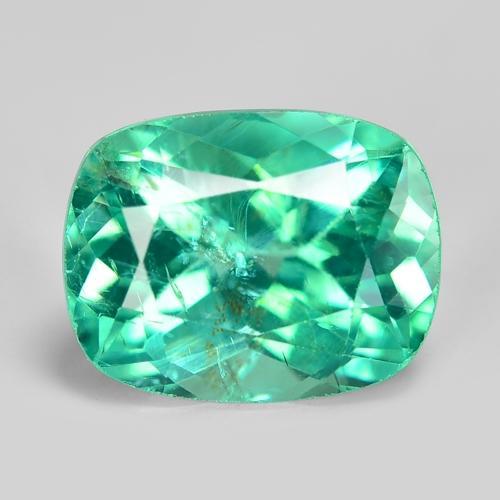 3.00 Carat Fancy Rare Green-Blue Color Natural Apatite Loose Gemstone