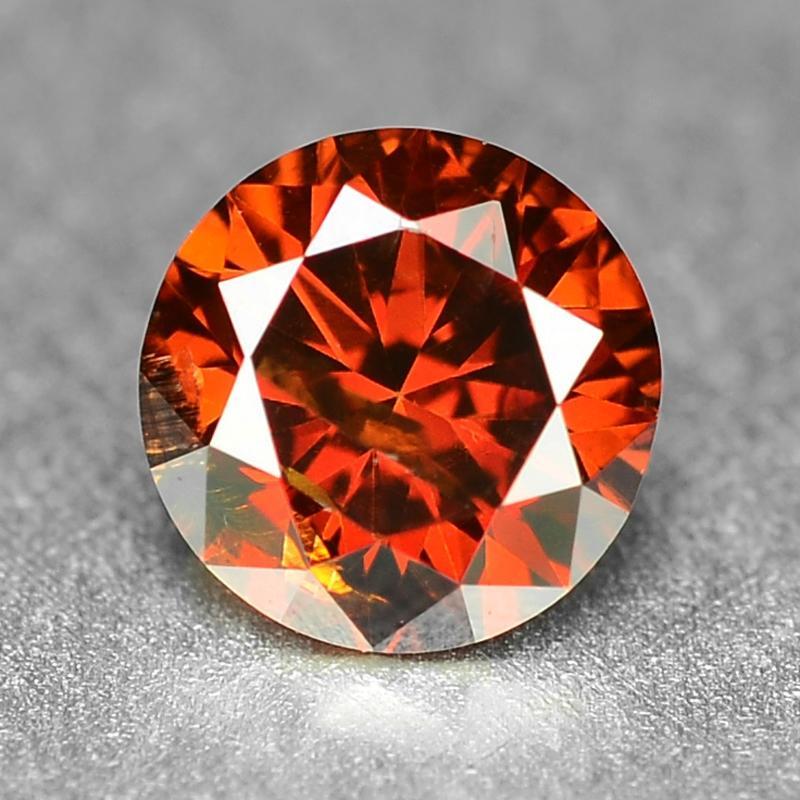 0.24 Carat Fancy Vivid Reddish Orange Color Natural Loose Diamond