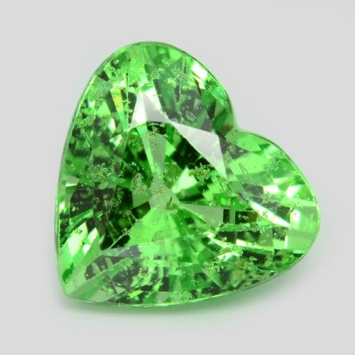 1.64 Carat Lovely Collectable Heart Green Color Tsavorite Loose Gemstone