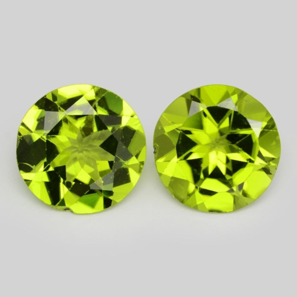 6.53 Carat 2 Pcs Matching pair Green Color Natural Peridot Loose Gemstone