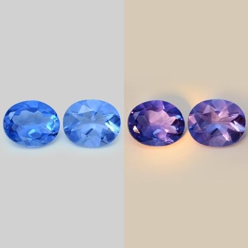 8.29 Carat 2 Pcs Rare Color Change Pair Blue Natural Flourite Gemstone