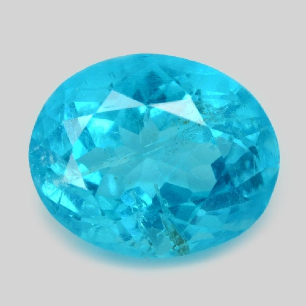 1.97 Carat Sparkling Neon Blue Color Natural Apatite Loose Gemstone