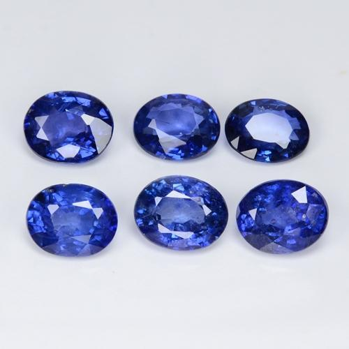 2.68 Carat 6 Pcs Royal Blue Sapphire Collection Natural Loose Gemstone