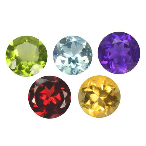 4.37 Carat 5 Pcs Natural Semi-Precious 5 Colours Gemstones Collection