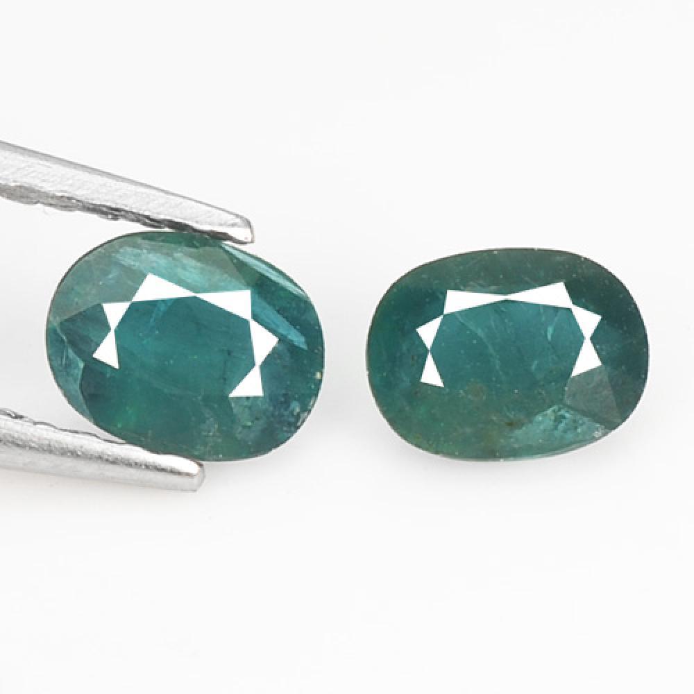 0.67 Carat 2 Pcs Very Rare Green Coolor Natural Grandidierite Gemstone