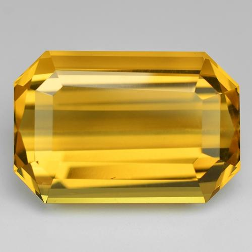 18.48 Carat Excellent AAA Golden Yellow Color Natural Citrine Loose Gemstone