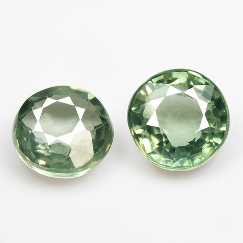 1.60 Carat 2 Pcs Fancy Geen Color natural Sapphire pair Loose Gemstone