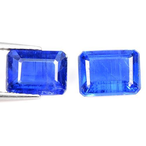 3.61 Carat 2 Pcs Royal Blue Color Natural Kyanite Loose Gemstone