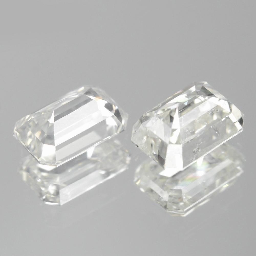 0.75 Carat 2 Pcs Excellent Pair White Color Natural Loose Diamond