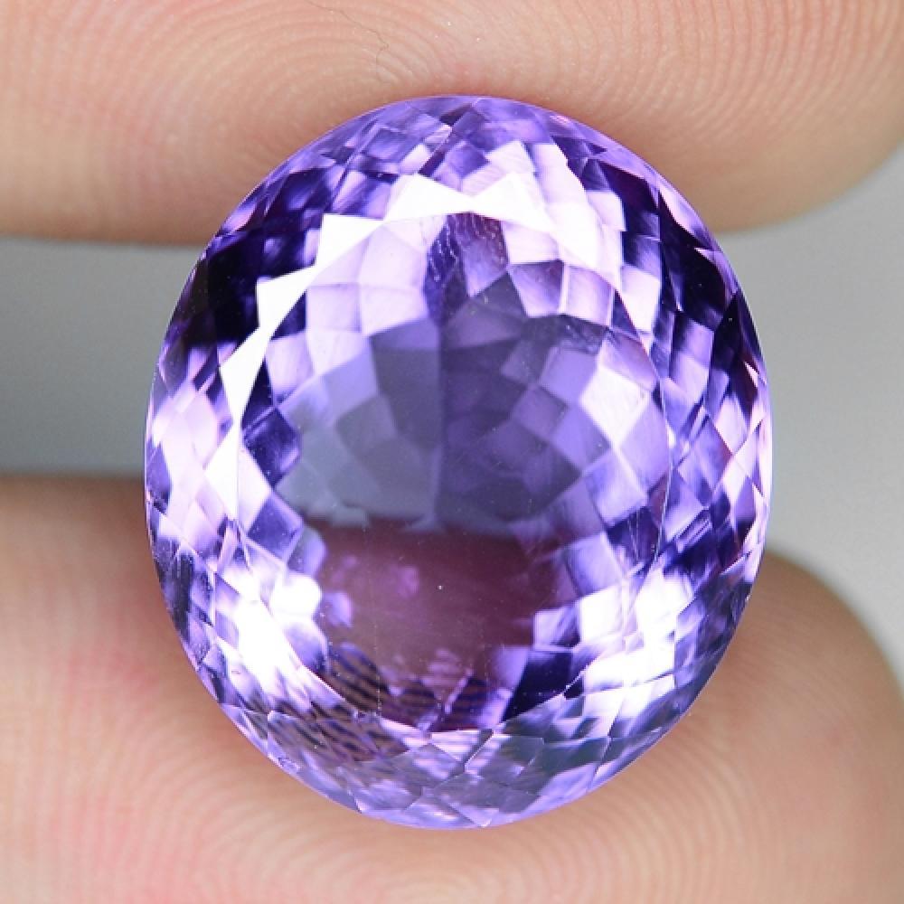 15.44 Carat Excellent Very Rare Violet Color Natural Amethyst Gemstone