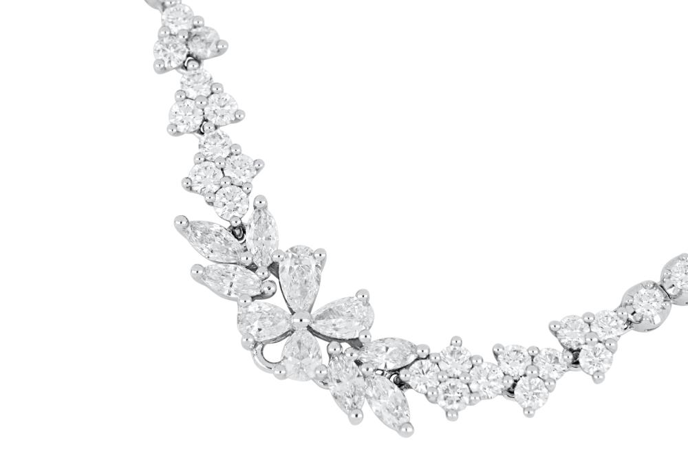 18ct white gold 6.69ct diamond necklace