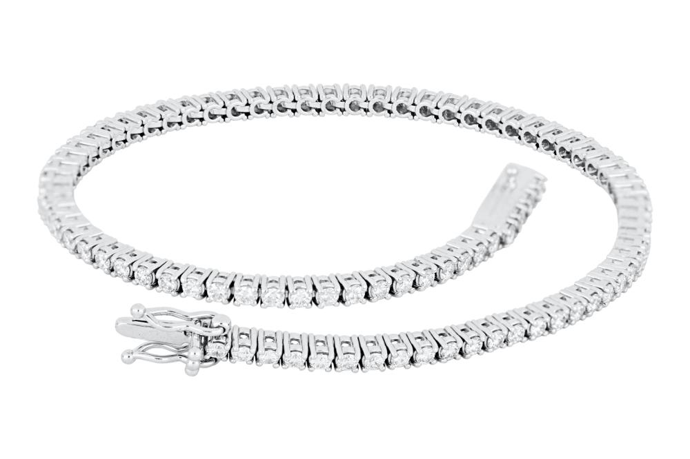 New 18ct white gold 1.60ct diamond tennis bracelet