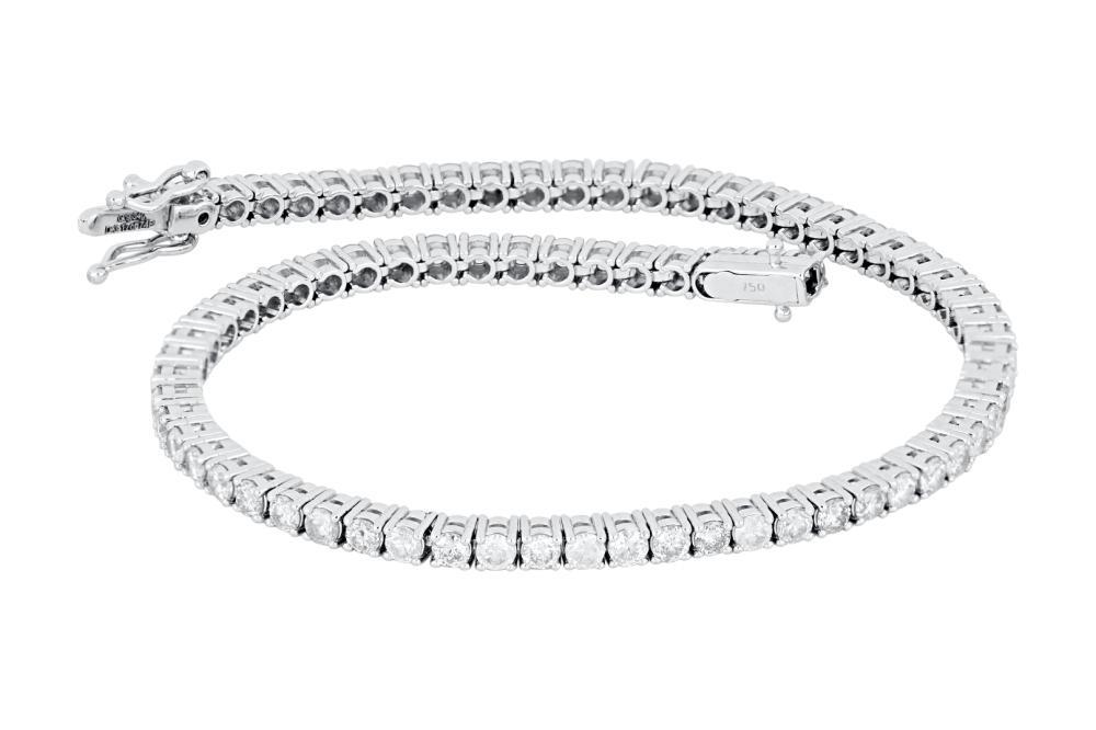 New 18ct white gold 3.17ct diamond tennis bracelet