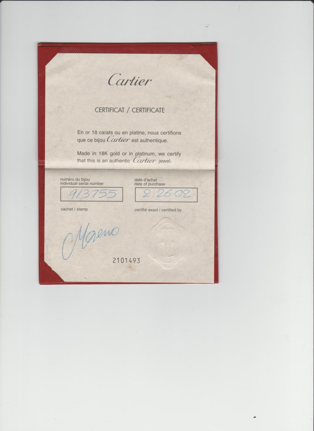 Cartier 18ct 3 row Panthere necklace, 76 grams