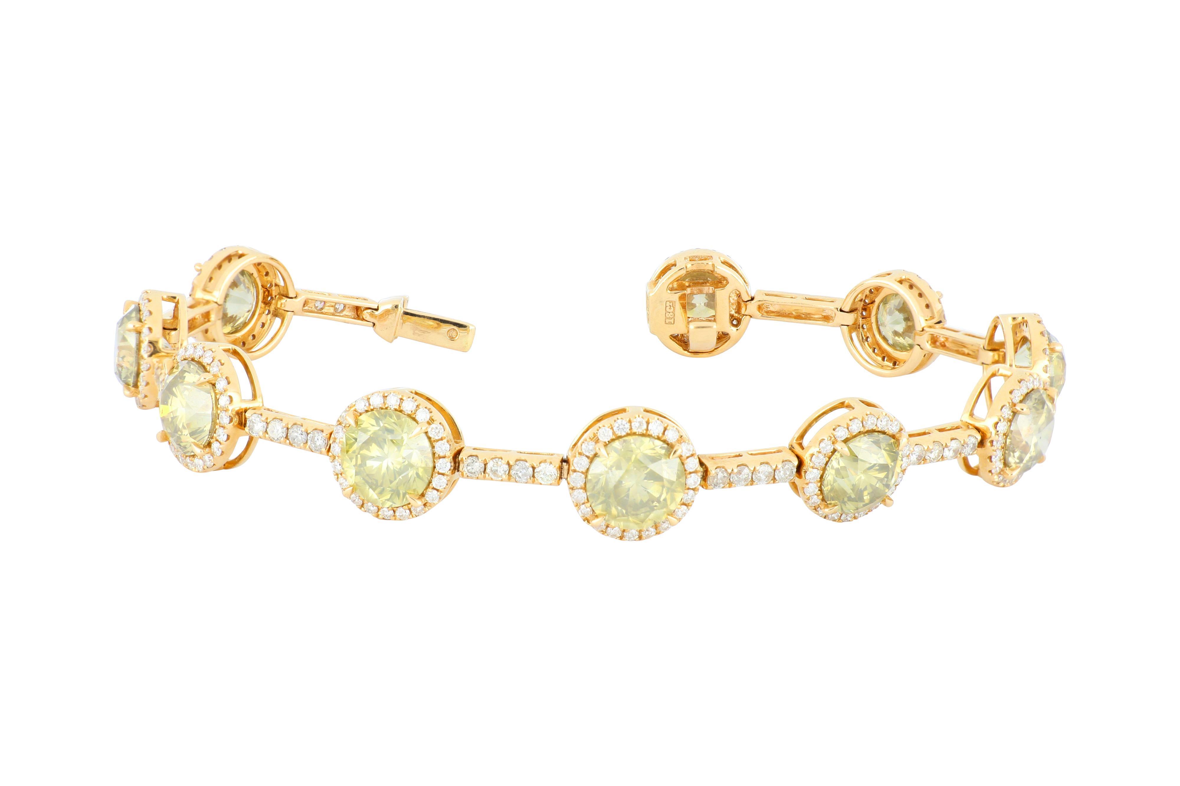 18ct rose gold diamond cluster tennis bracelet, 14.42 grams