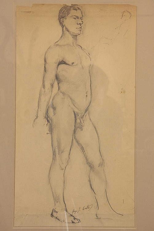Coates, James George (1869-1930). Male Nude.