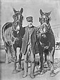 Portrait of an Old Farmer with Work Horses, 1880.