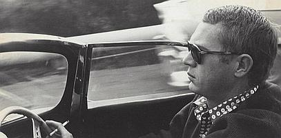 Sid Avery, Steve McQueen in his 1957 Jaguar XKSS