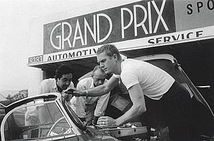 Sid Avery, Steve McQueen with his Jaguar XK-SS