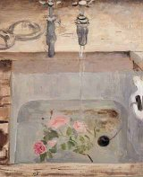 Mary Potter (1900-1981) FLOWERS IN THE SINK oil on canvas 61 x 51 cm. (24 x 10 in.) PROVENANCE: Acquired directly from the artist to the present owner