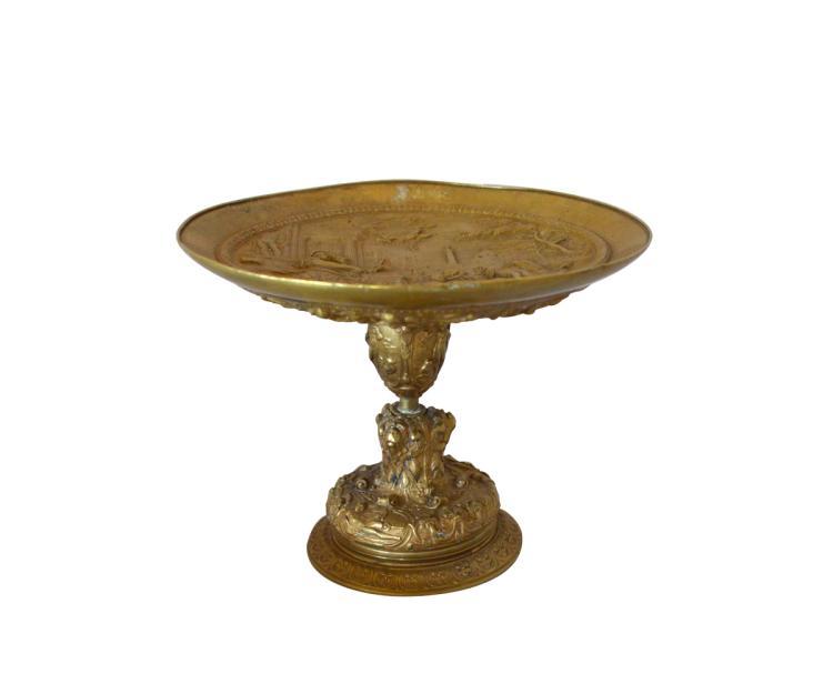 Antique Gilt Bronze Tazza