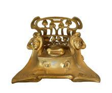 Antique Original Art Nouveau Inkwell
