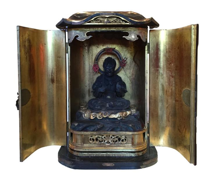 Magnificent Large Antique Japanese Zushi Shrine