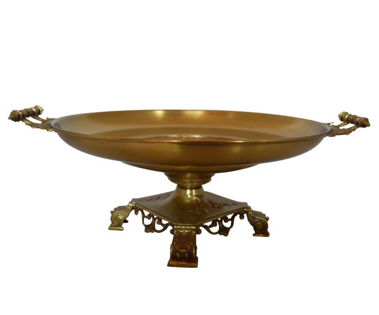 Large Bronze Tazza or Centerpiece