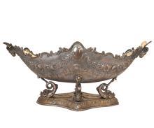 Antique Large Silver Plvated Centerpiece Bowl