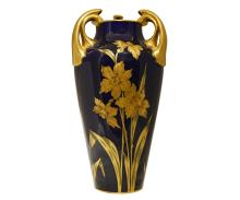 Tall Art Nouveau Style French Ceramic Vase