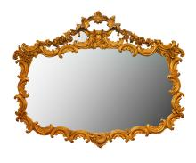 Antique French Hand-Carved Gilt Mirror