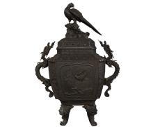 Large Antique Japanese Bronze Urn